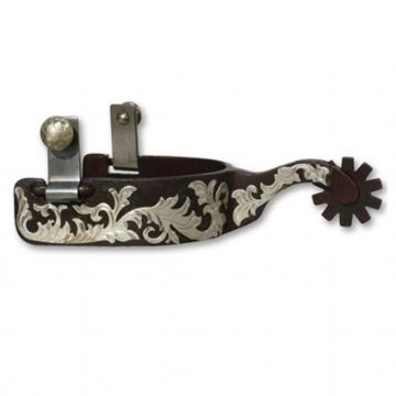 Bob Avila - Medium Shank Floral Spurs